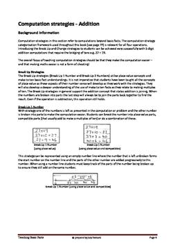 Teaching Computation using strategies instead of algorithms