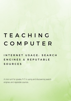 Teaching Computer Search Engines and Reputable Sources