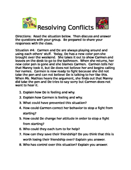 Teaching Conflict Resolution Skills