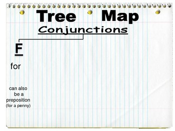 Teaching Conjunctions with a Tree Map (used in conjunction