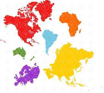 Teaching Continents Clipart by Poppydreamz