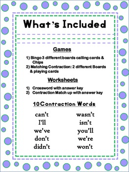 Teaching Contractions