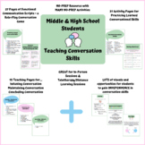 Middle & High School Speech Therapy Conversation Skills Materials & Activities