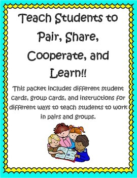 Teaching Cooperative Learning Packet