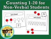 Teaching Counting to Non-verbal Students: 1-to-1 Correspondence, Counting Sets