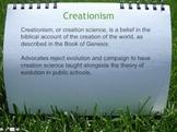 Teaching Creationism in Schools Debate: Powerpoint
