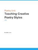 Teaching Creative Poetry Styles