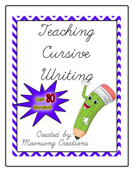 Teaching Cursive Handwriting PLUS Teaching Cursive Handwriting Pre-cursive!