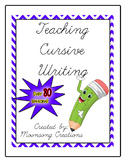 Teaching Cursive Handwriting PLUS Teaching Cursive Handwri