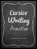 Cursive Writing / Hand Writing / Practice / Distance Learning