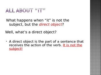 Teaching DOP's (Direct Object Pronouns)
