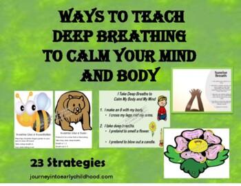 Teaching Deep Breathing- 11 Cards of Visuals