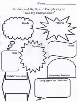 """The Big Orange Splot"" - Teaching Depth and Complexity in the Classroom"