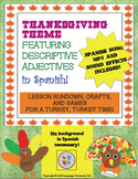 Thanksgiving Spanish Adjectives Lesson for Kids!