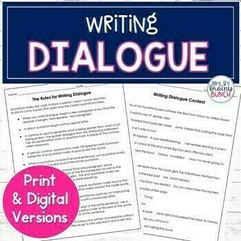 Teaching Dialogue in Writing