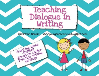 Teaching Dialogue in Writing {Freebie!} by Kristine Nannini | TpT