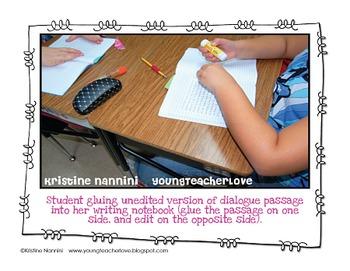 Teaching Dialogue in Writing {Freebie!}