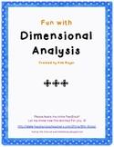 Teaching Dimensional Analysis (converting between rates)