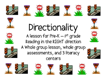 Teaching Directionality to Pre-K-1, Transportation Unit, FREEBIE!