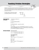 Teaching Division Strategies, Grades 4-6+