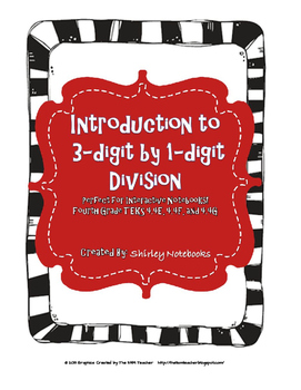 Teaching Division Unit Bundle -  9 Lessons - TEKS 4.4E, F, and G