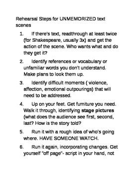 Teaching Drama: How to Rehearse