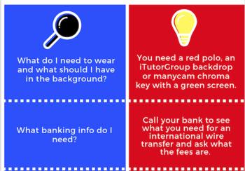Teaching ESL Online | iTutorGroup Newbie Infographic
