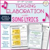 Teaching Elaboration, ACE Writing Strategy, Worksheets