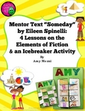 """Teaching Elements of Fiction Using Mentor Text """"Someday"""" + Icebreaker Activity"""