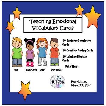 Teaching Emotional Vocabulary Cards