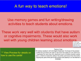 Teaching Emotions, Autism, Social Skills, Memory Game, ASD