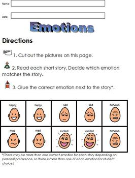 Teaching Emotions to Special Ed Students; (Autism) Boardmaker Picture Clues