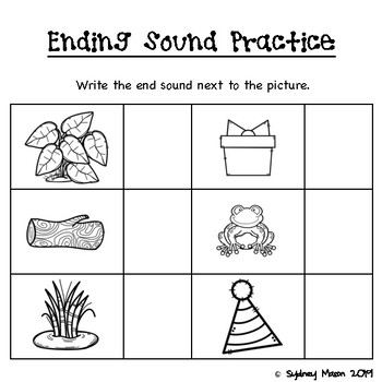 Teaching Ending Sounds with Pictures, ELL Friendly