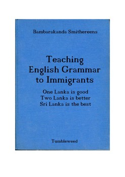 Teaching English Grammar to Immigrants - A humorous approach