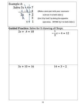 Teaching Equation Text Book