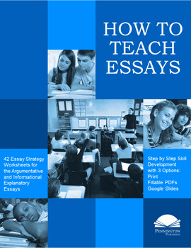 teaching essay strategies by pennington publishing tpt teaching essay strategies