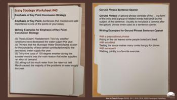 Teaching Essay Strategies
