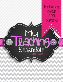Teaching Essentials Binder in Gray and Black