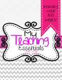 Teaching Essentials Binder in Gray and White