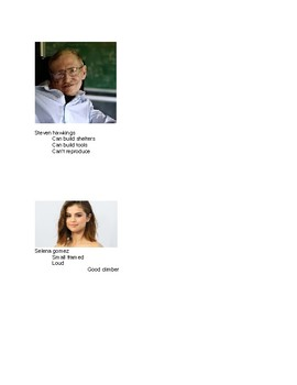 Teaching Evolution and Natural Selection with Celebrities