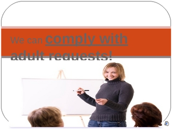 Teaching Expectations - Complying with Adult Requests