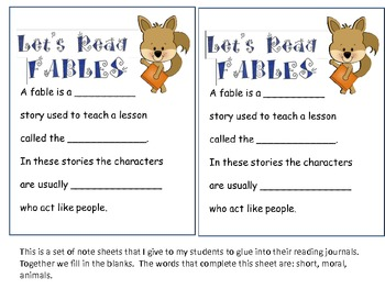 Teaching Fables