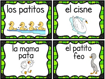 Characters, Setting, Retelling, & Sequencing Classic Tales in English & Spanish