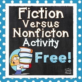 Fiction Versus Nonfiction Activity {FREE} | TpT