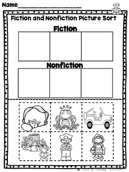 Teaching Fiction and Nonfiction in Kindergarten {Ladybug Learning Projects}