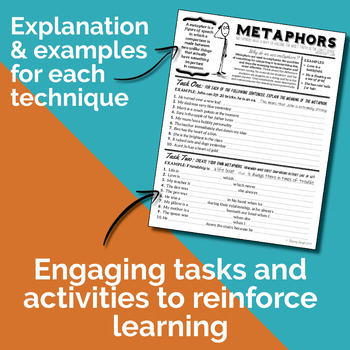 Teaching Figurative Language Techniques {Worksheets}
