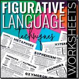 Teaching Figurative Language Techniques WORKSHEETS