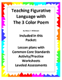 Teaching Figurative Language with the 3 Color Poem