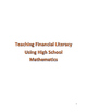 Managing Personal Finances Using High School Math Mini-Unit