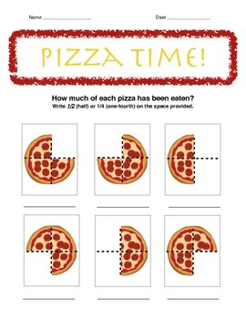 Teaching 1/2 & 1/4 Fractions with Pizza
